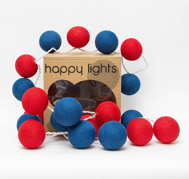 Happy Lights Happy Lights Box Red and Blue