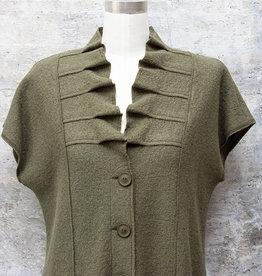 Q-Neel Waistcoat in Olive Green