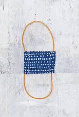 Kreatelier Face Mask for Dolls Blue Tiny Dots