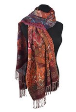 Dupatta Designs Irmina Scarf  in Red and Orange
