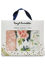 Tiny Twinkle Swaddle Blanket Blush Set of 3