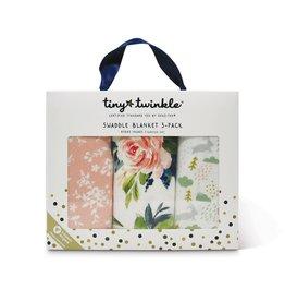 Tiny Twinkle Swaddle Blanket Blush Set of 3