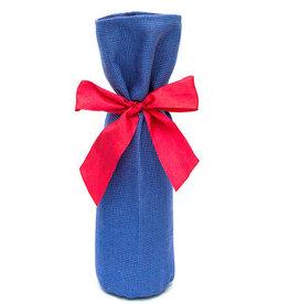 Kreatelier Bottle Gift Bag Blue Weave