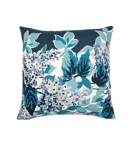 Kreatelier Floral Pillow in Blues and White 16 x 16in