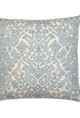 Kreatelier Persian Pattern Pillow in Light Blue 18 x 18in