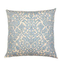 Kreatelier Persian Pattern Pillow in Light Blue 18 x 18in