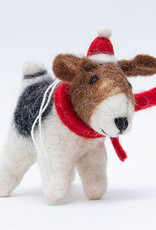 The Winding Road Dog with Red Scarf Ornament