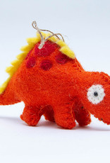 The Winding Road Dinosaur Ornament Red