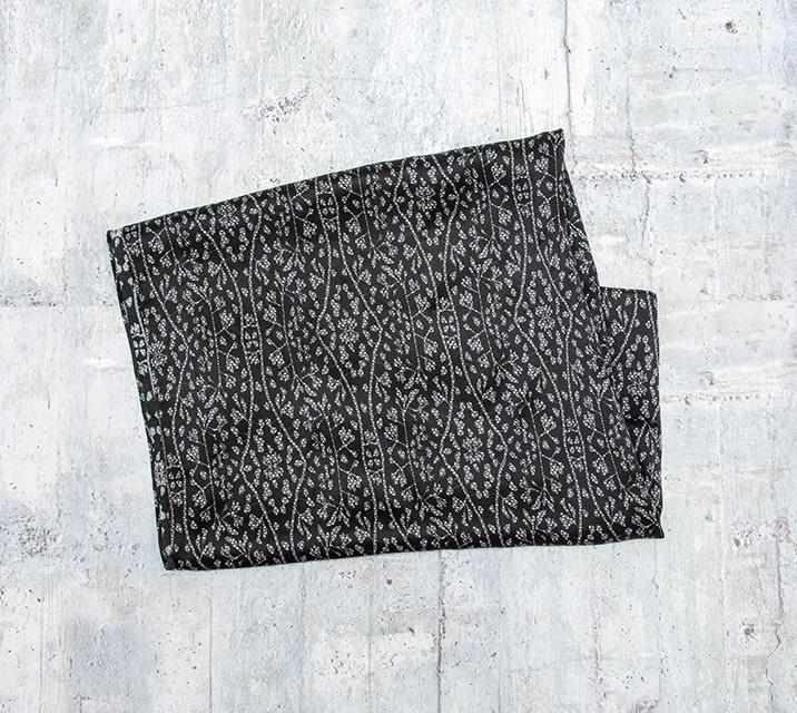Bela Monde Silk Scarf Black and White