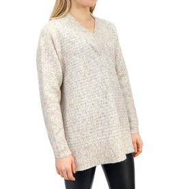 RD International Knit Sweater White Beach Mix