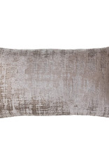 Kreatelier Labyrint Pillow Grey and Tan 10 x 18in