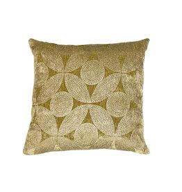 Kreatelier Velvet Pillow Olive Green 14 x 14in