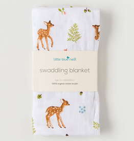 Little Blue Nest Swaddle Blanket Fawn