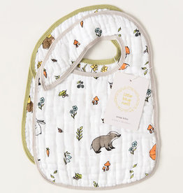 Little Blue Nest Snap Bibs Into the Woods & Woodland