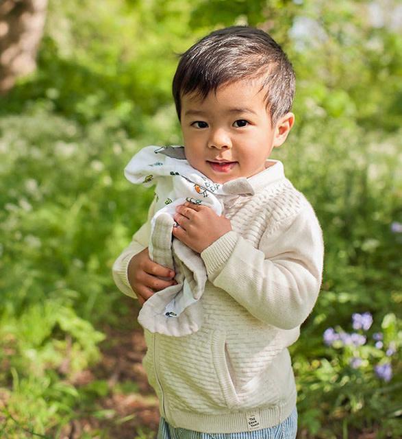 Little Blue Nest Comforter Muslin Into the Woods