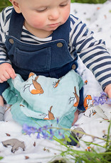 Little Blue Nest Comforter Muslin Little Robin