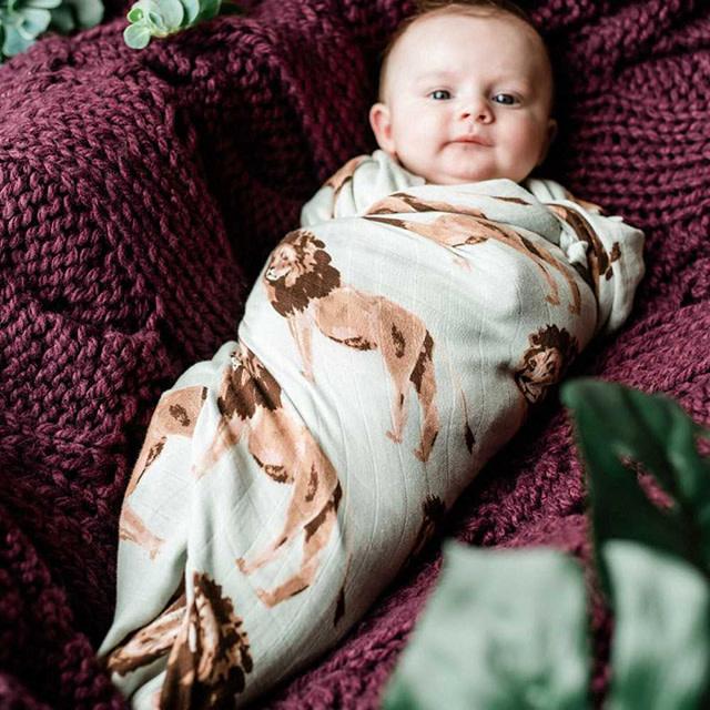 Milkbarn Bamboo Swaddle Blanket Tutu Elephant