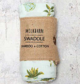 Milkbarn Bamboo Swaddle Blanket Potted Plants