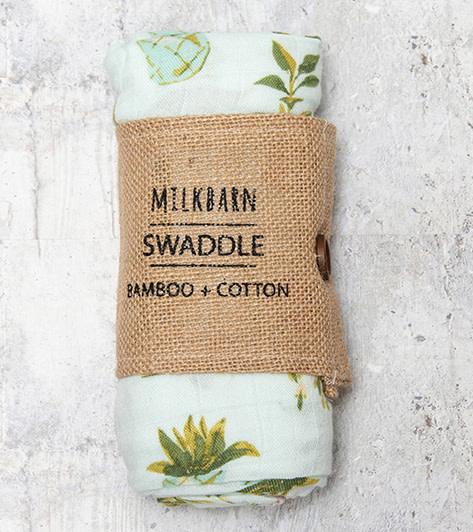 Milkbarn Bamboo Swaddle Blanket Potted Plants