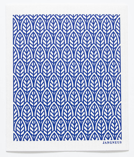 Esthetic Living Swedish Dishcloth New Leaves Blue