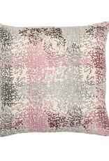Kreatelier Embroidered Splotch Pillow in Grey and Mauve 16 x 16in