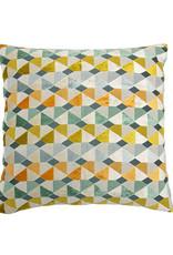 Kreatelier Velvet Geo Pillow in Soft Multi 18 x 18in