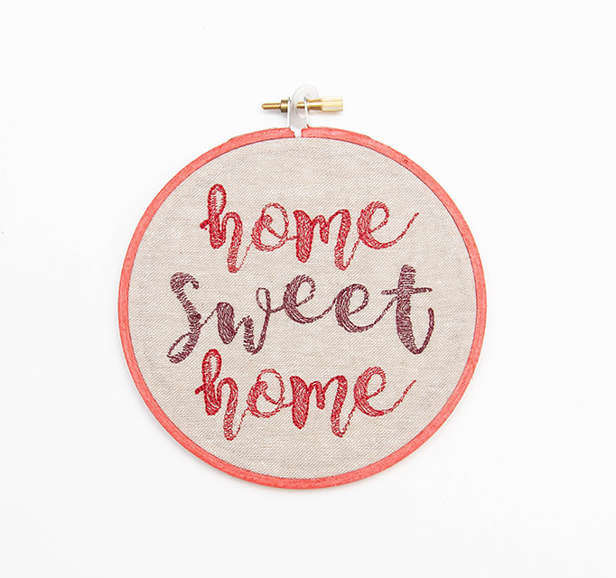 SewMuchMoreStore Home Sweet Home Hoop Red