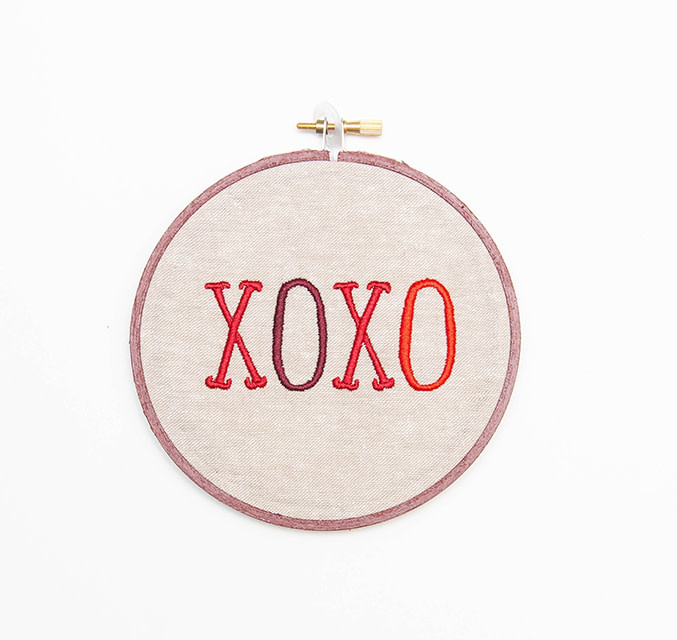 SewMuchMoreStore XOXO Hoop Red