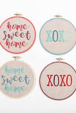 SewMuchMoreStore Home Sweet Home Hoop Teal