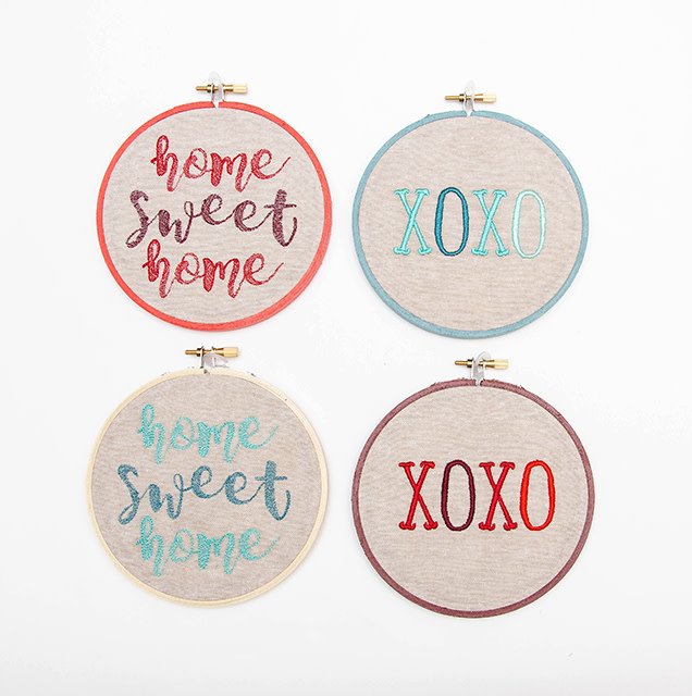 SewMuchMoreStore XOXO Hoop Teal
