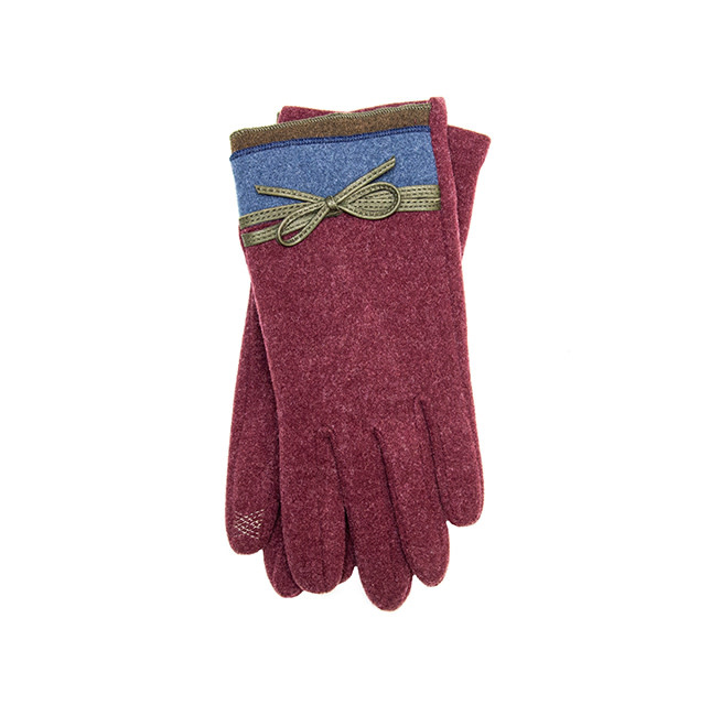 Santacana Knitted Double Bicolor Glove Wine