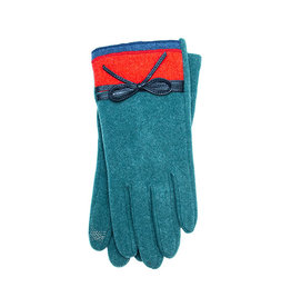 Santacana Knitted Double Bicolor Glove Green