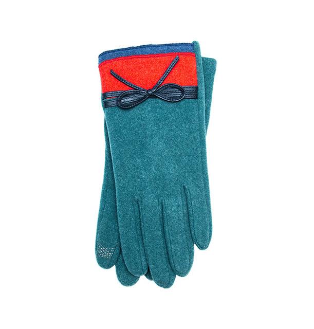 Santacana Knitted Double Bicolor Glove Green