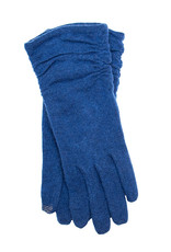 Santacana Wool and Cashmere Knitted Glove Blue