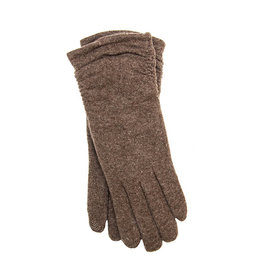 Santacana Wool and Cashmere Knitted Glove Brown