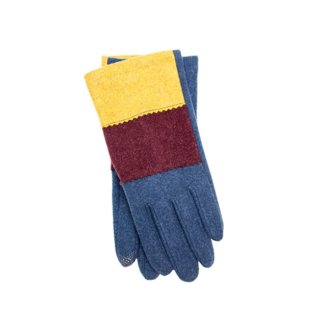 Santacana Knitted Tricolor Glove Blue