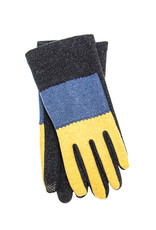 Santacana Knitted  Tricolor Glove Grey