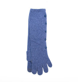 Santacana Wool and Cashmere Long Glove Blue