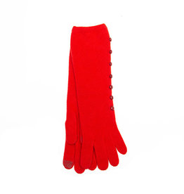 Santacana Wool and Cashmere Long Glove Red