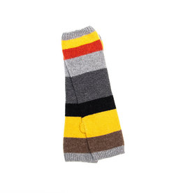 Santacana Wool and Cashmere Knitted Striped Glove Grey