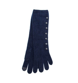 Santacana Wool and Cashmere Long Glove Navy