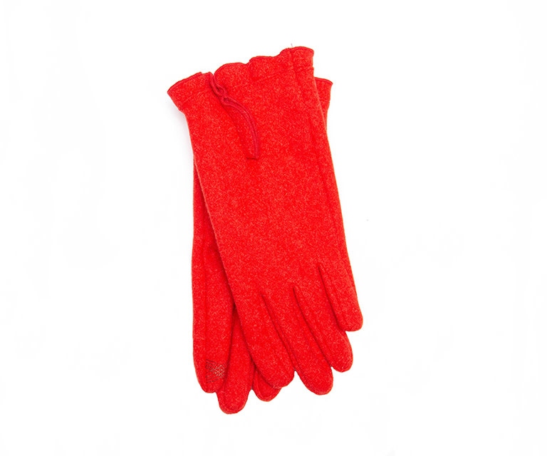 Santacana Knitted Glove Ripples Red