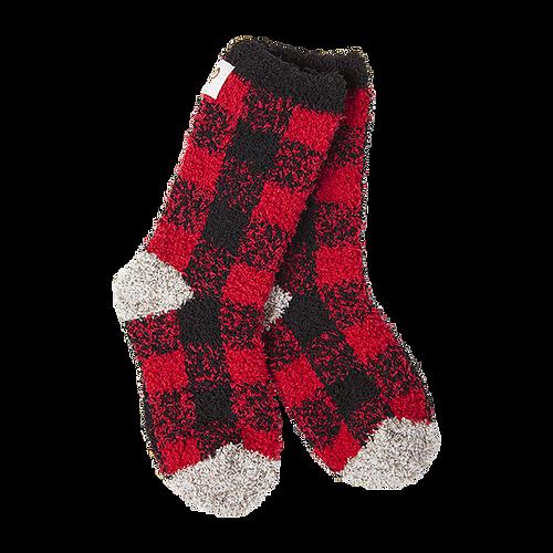 Crescent Sock Company Kids Socks Buffalo Check 1-4 (size)