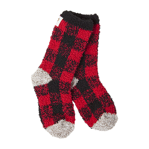Crescent Sock Company Kids Socks Buffalo Check 10-13 (size)