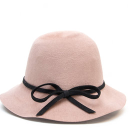 Santacana Cloche Felt Hat Rose