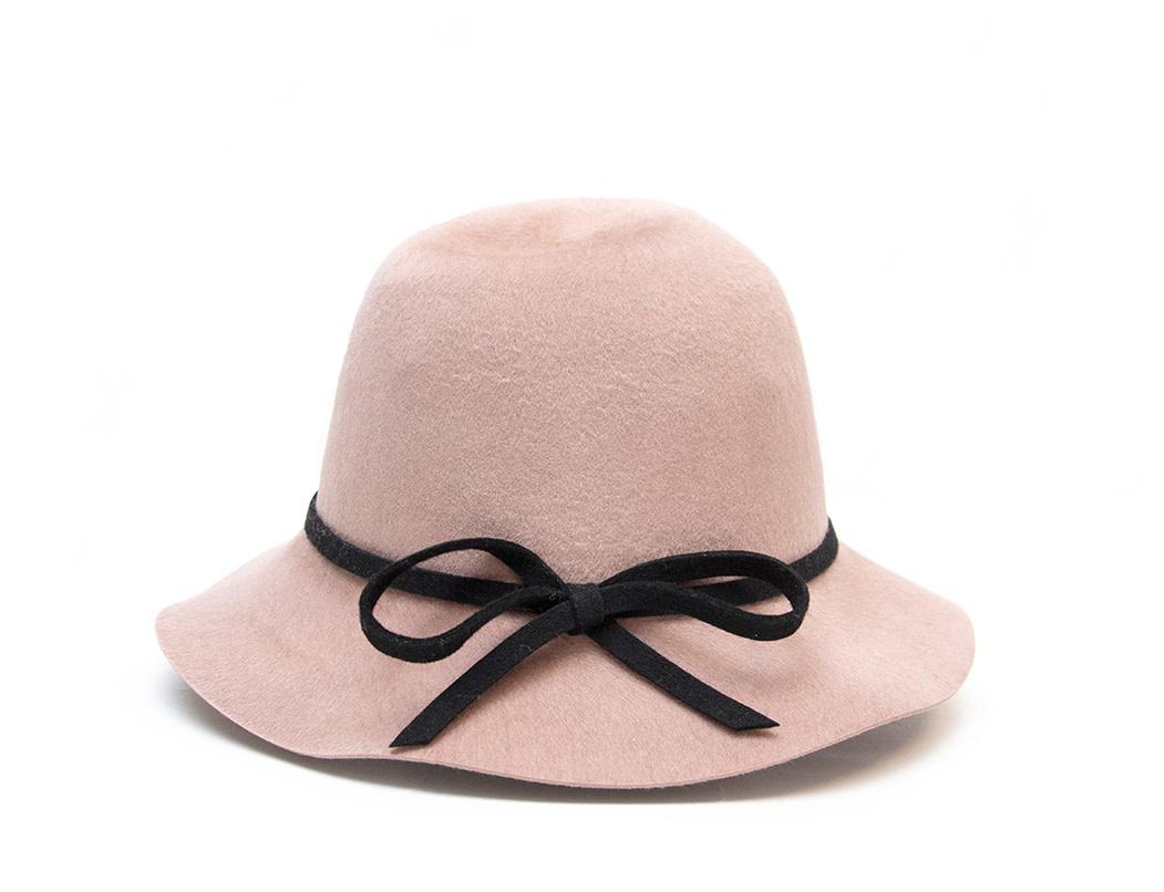 Santacana Cloche Felt Hat Rose