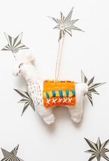 The Winding Road Llama Ornament Orange