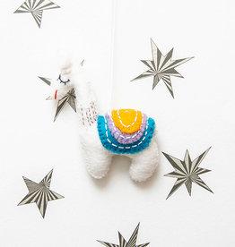 The Winding Road Llama Ornament Multicolor