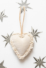Roost Fringed Canvas Heart Ornament