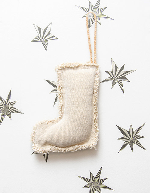 Roost Fringed Canvas Stocking Ornament